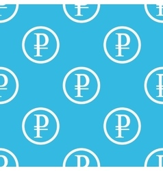 Ruble sign blue pattern vector