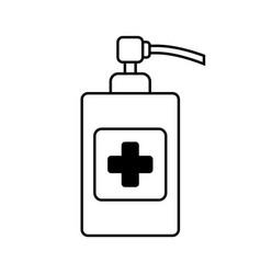 Sanitizer icon on white vector