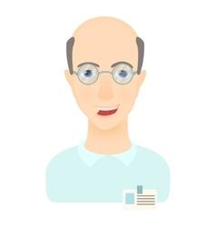 Scientist icon cartoon style vector image