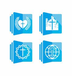 set of biblical logos for church vector image