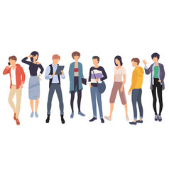 set people characters vector image