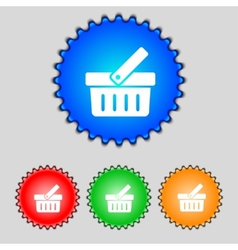Shopping Cart sign icon Online buying button Set vector image