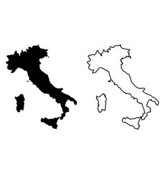 simple only sharp corners map italian republic vector image