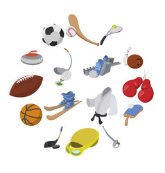 sport cartoon icons vector image