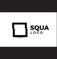 square logo concept primitive geometric shape vector image