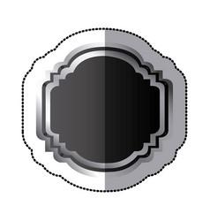 Sticker black silhouette elegant heraldic vector