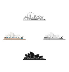 sydney opera house icon in cartoonblack style vector image
