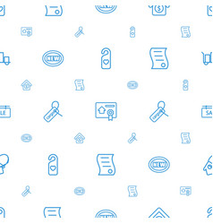 Tag icons pattern seamless white background vector