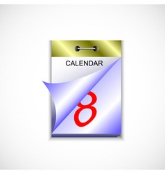 Tear-off calendar in color vector