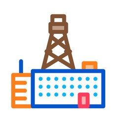 Telephone connection station tower icon vector