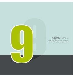 The number 9 vector image