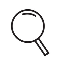 thin line magnifier icon design vector image