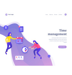 time management concept workflow flying or vector image