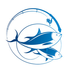 tuna and spinning vector image
