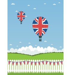 uk hot air balloons vector image