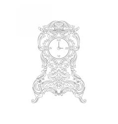 Vintage Baroque Classic clock vector image