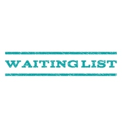 Waiting List Watermark Stamp vector