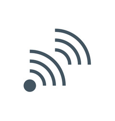 wifi transmitter antenna communication icon vector image
