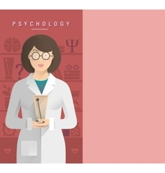 Women psychologist in glasses vector