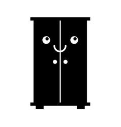 Wooden closet kawaii character vector