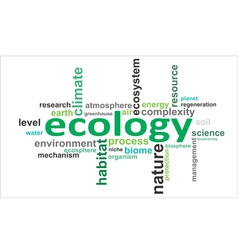 Word cloud ecology vector
