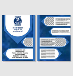 brochure for tourism blue abstraction vector image