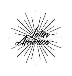 Latin america card vector