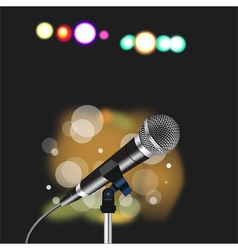 Microphone cord abstract Spotlight vector image vector image