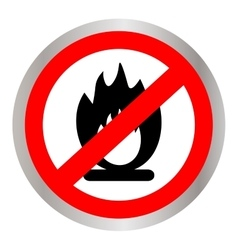No Fire flame sign icon Fire symbol Stop fire vector image