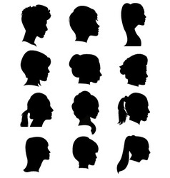 Silhouettes hairstyles vector image