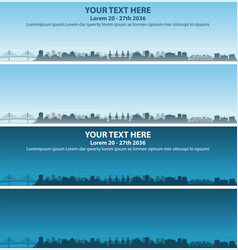 tampa skyline event banner vector image