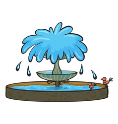 a fountain vector image