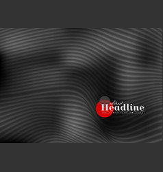 abstract black 3d waves and lines pattern vector image vector image