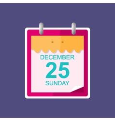 Calendar Leaf Isolated on Purple Background vector image