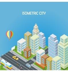 Isometric city background vector