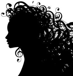 MusicWoman vector image vector image