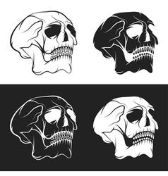 set of skulls design template vector image vector image