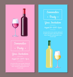sommelier party invitation vector image