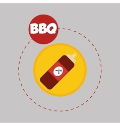 Flat about sauce design vector image