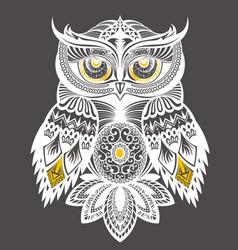 owl decorative design for t shirt print vector image