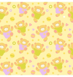 Seamless Teddy Bears vector image vector image