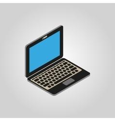 The computer icon pc desktop laptop symbol3d vector