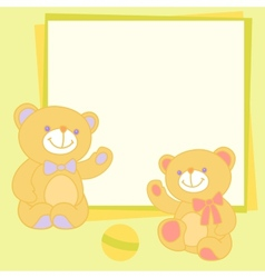 background with teddy bear vector image