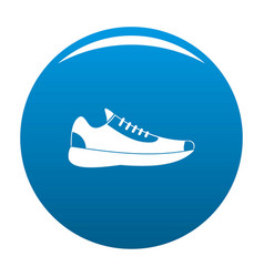 sneakers icon blue vector image vector image