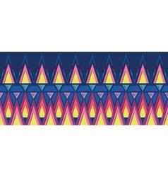 Vibrant triangles horizontal seamless pattern vector image