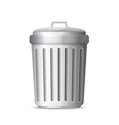 3d realistic trashcan vector image