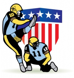 American football graphic vector image