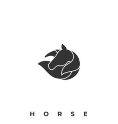 Beautiful horse template vector