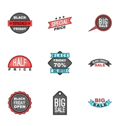 Big sale icons set cartoon style vector image