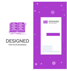 Business logo for book education lesson study vector